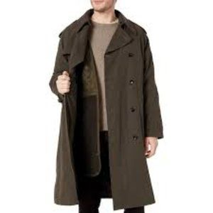 London Fog Men Double Breasted Belted Trench coat